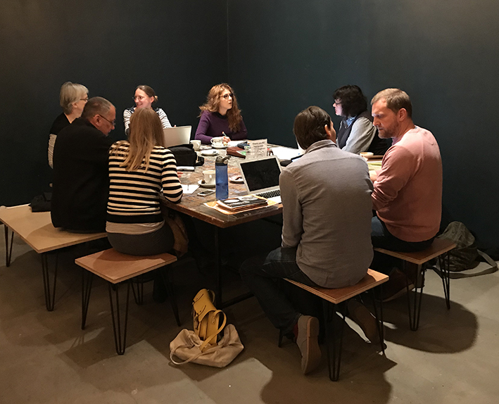 Team discussions at Arnolfini's Front Room