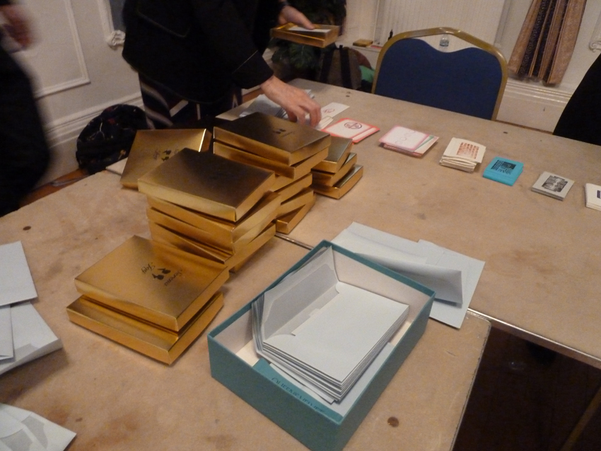 Serena Joy boxes, the assembly line begins, World Book Night 2016