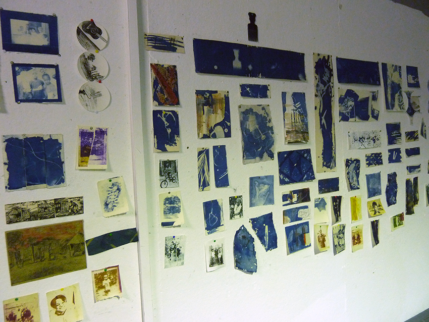 Cyanotype prints by current students at Artists Proof Studio