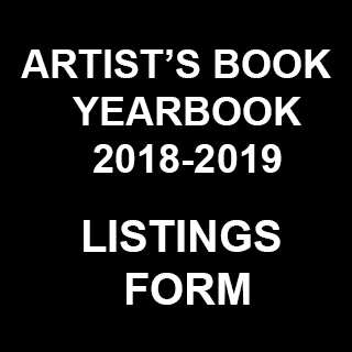 Listings call for the Artist's Book Yearbook 2018-2019. Deadline 30th May 2017
